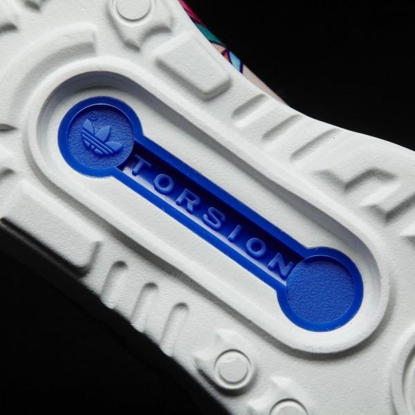 adidas Femme Originals ZX Flux ADV Smooth Sli(S75686) - Lab Bleu/Off blanc