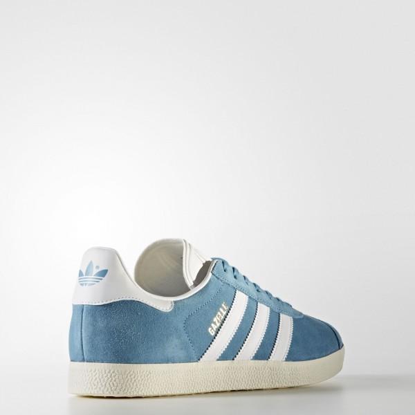 adidas Originals Gazelle (BZ0022) - Bleu/Tactile Steel /Footwear blanc/or Metalic -Unisex