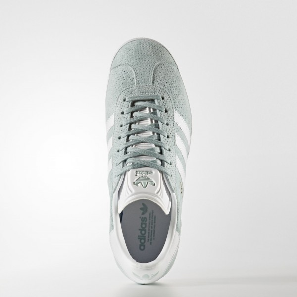 adidas Femme Originals Gazelle (BY9358) - Tactile vert /Footwear blanc/or Metalic