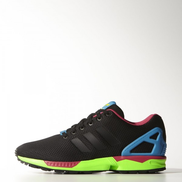 adidas Originals ZX Flux (B34490) - Core Noir/Core Noir/Solar vert -Unisex