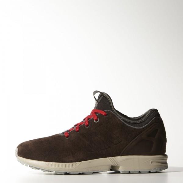 adidas Originals ZX Flux NPS (B34893) - Dark marron/Scarlet/Noir -Unisex