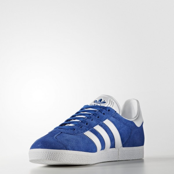 adidas Originals Gazelle (S76227) - Collegiate Royal/blanc/or Metallic -Unisex