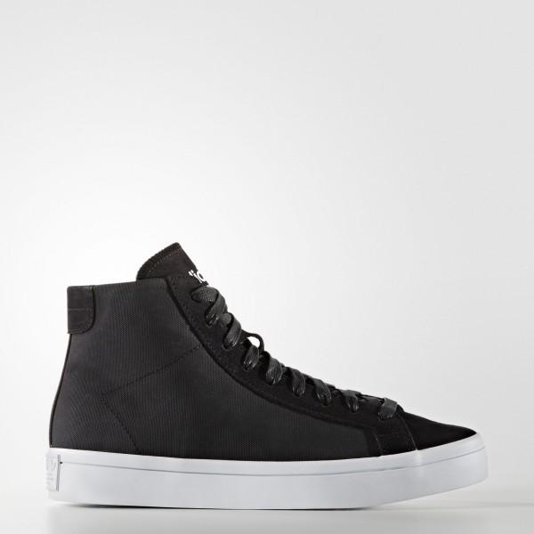 adidas Femme Originals Court Vantage Mid (S76496) - Core Noir/Core Noir/ blanc