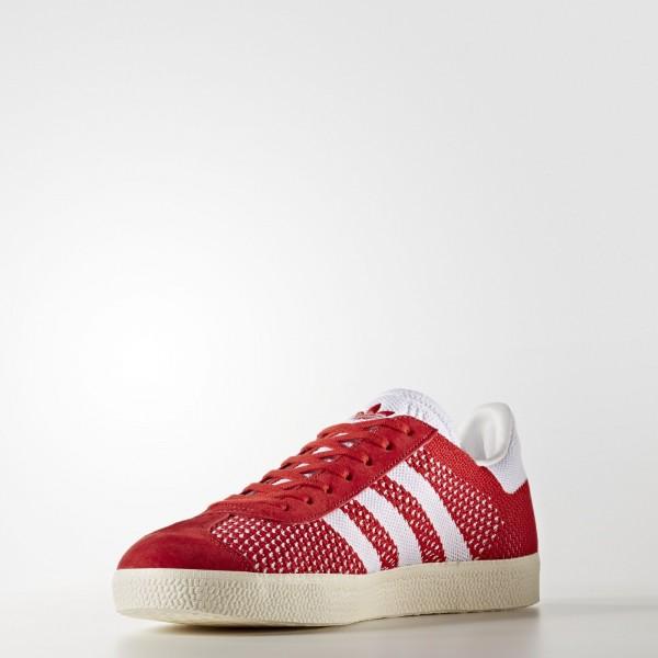 adidas Originals Gazelle Primeknit (BB5247) - Scarlet/Footwear blanc/Chalk blanc -Unisex