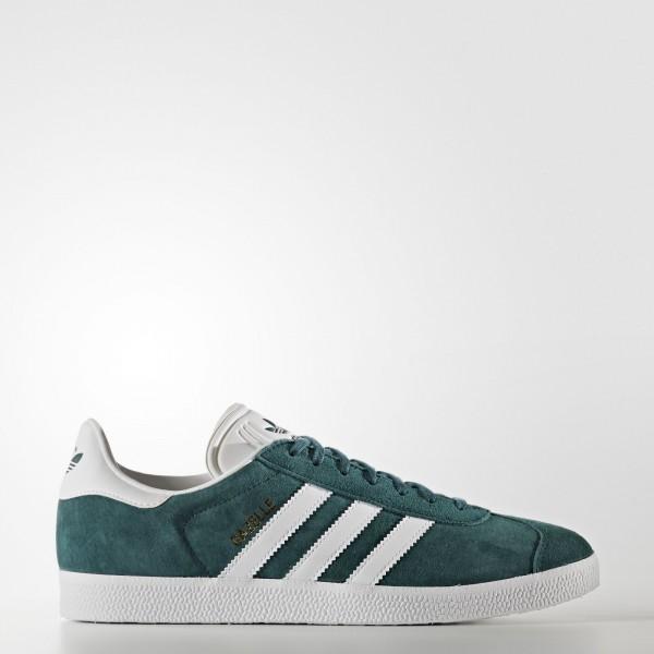 adidas Originals Gazelle (BB5253) - Mystery vert/Footwear blanc/or Metallic -Unisex