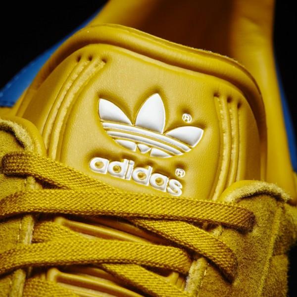 adidas Originals Gazelle (BB5258) - Nomad Jaune/Core Bleu/Footwear blanc -Unisex
