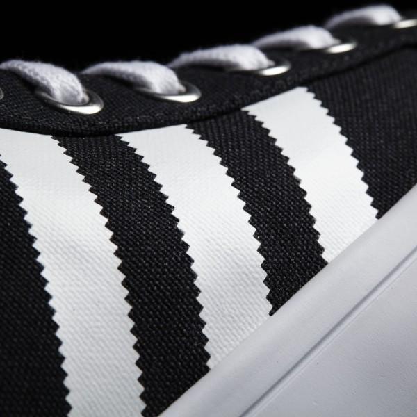 adidas Originals Court Vantage Mid (S79303) - Core Noir/blanc/Metallic argent Solid -Unisex