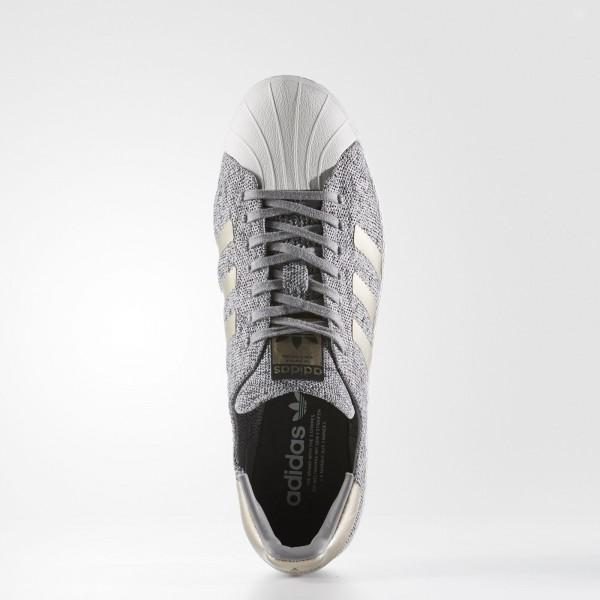 adidas Originals Primeknit Superstar Boost (BB8973) - Lgh Solid gris / Mgh Solid gris / Ch Solid gris -Unisex