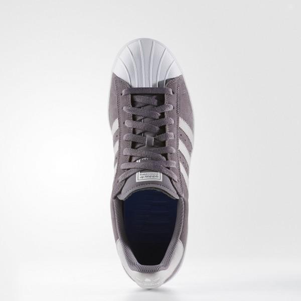adidas Homme Originals Superstar Vulc ADV (BB8608) - Trace gris/Lgh Solid gris/Footwear blanc