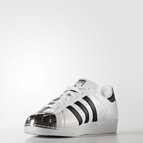 adidas Femme Originals Superstar 80s (BB5114) - Footwear blanc/Core Noir/argent Metallic
