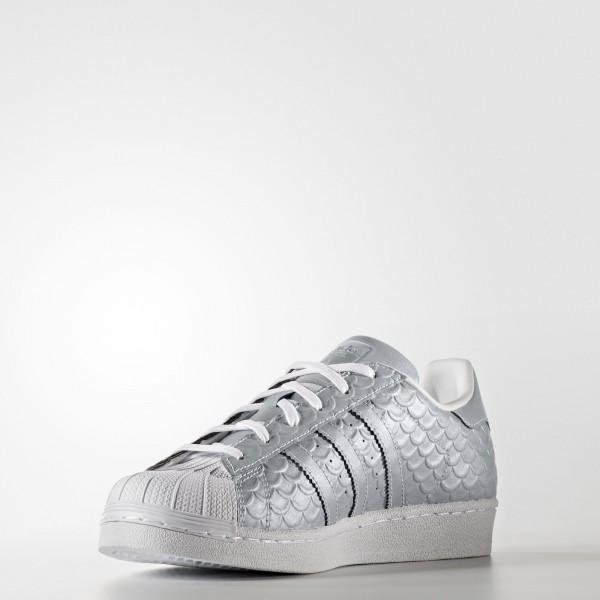 adidas Femme Originals Superstar (BY3042) - argent Metallic/Footwear blanc