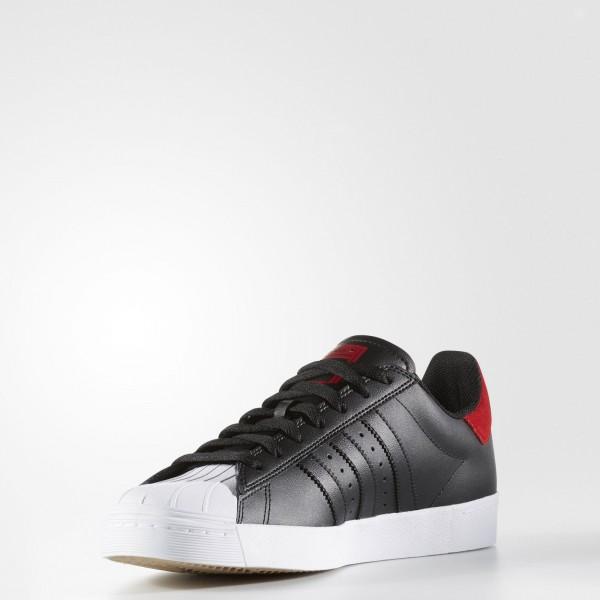 adidas Homme Originals Superstar Vulc ADV (BB8610) - Core Noir/Scarlet/Footwear blanc