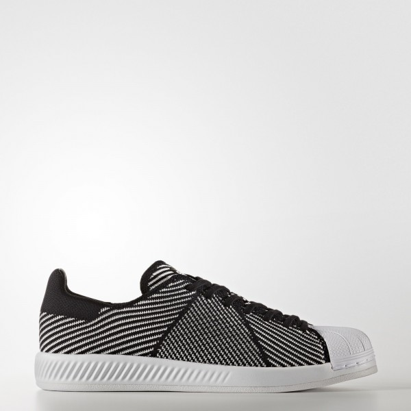 adidas Homme Originals Superstar Bounce Primeknit (S82243) - Core Noir/Footwear blanc