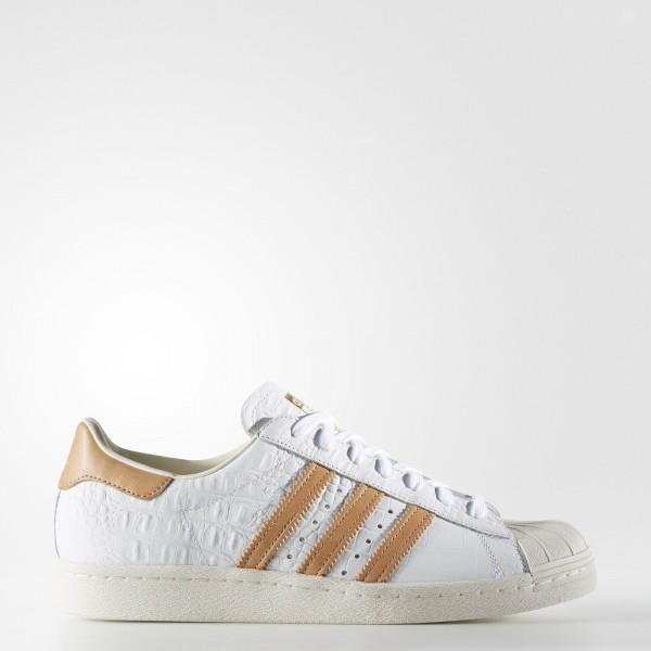 adidas Originals Superstar 80s (BB2229) - Footwear blanc/or Metallic -Unisex
