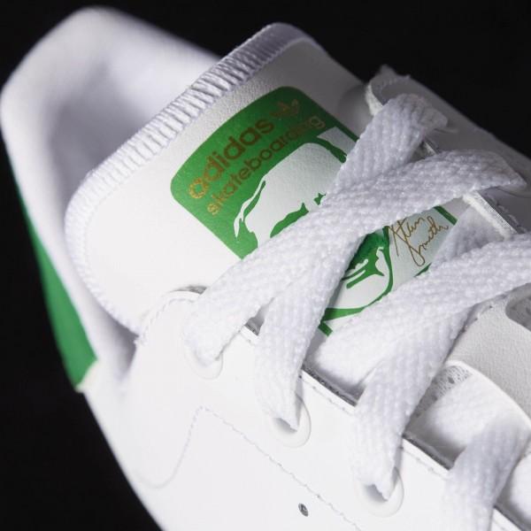 adidas Homme Originals Stan Smith Vulc (B49618) - Ftwr blanc / Ftwr blanc / vert