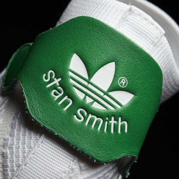 adidas Femme Originals Stan Smith Shock Primeknit (BY9252) - Footwear blanc/Footwear blanc/vert