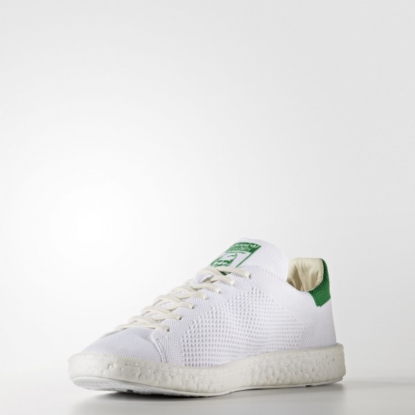 adidas Originals Stan Smith Boost Primeknit (BB0013) - Footwear blanc/vert -Unisex