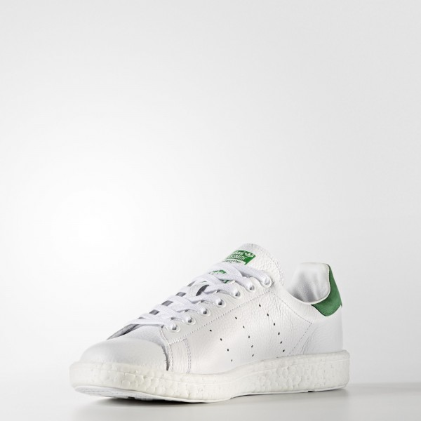 adidas Originals Stan Smith Boost (BZ0528) - Footwear blanc/Footwear blanc/vert -Unisex