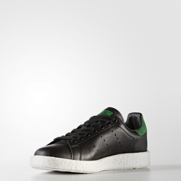 adidas Homme Originals Stan Smith Boost (BZ0527) - Core Noir/Core Noir/vert