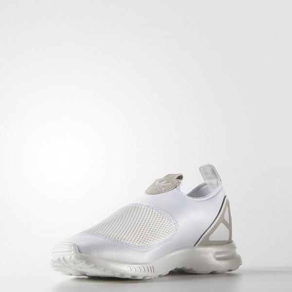 adidas Femme Originals ZX Flux ADV Smooth Slip-On (S78959) - Core blanc/Core blanc/Core Noir