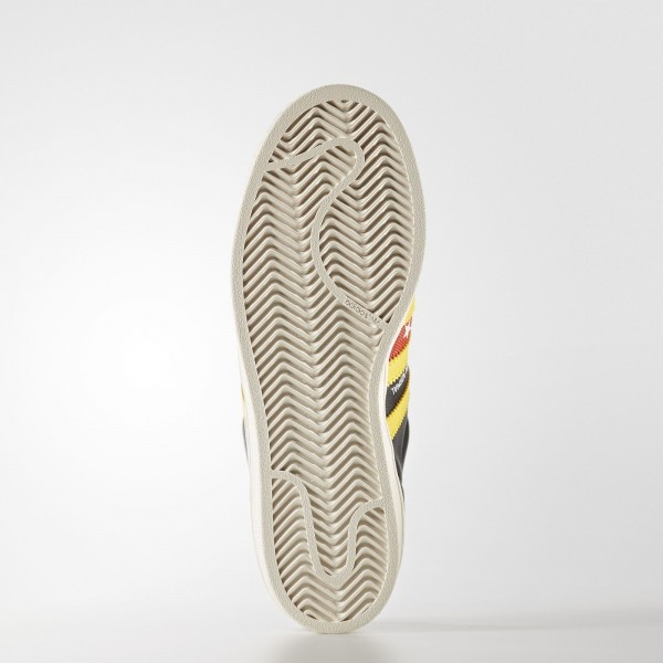 adidas Femme Originals Superstar (S80290) - Core Noir/Eqt Jaune/Off blanc