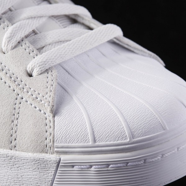 adidas Homme Originals Superstar Vulc ADV (B27393) - Crystal blanc/Raw Violet