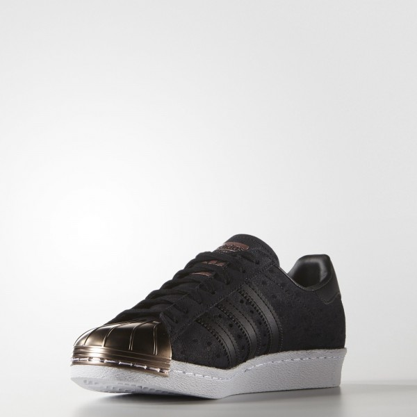 adidas Femme Originals Superstar 80s (S76712) - Core Noir/Core Noir/Vapour gris Met