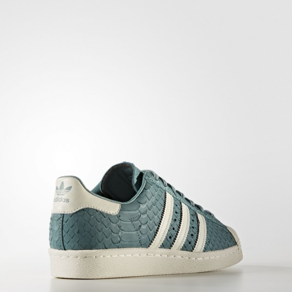 adidas Femme Originals Superstar 80s (S76412) - Vapour Steel/Off blanc/Off blanc