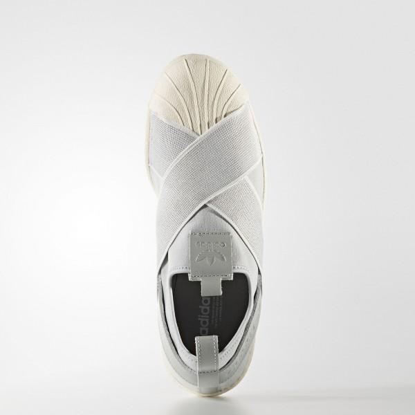adidas Femme Originals Superstar Slip-on (S76409) - Clear Onix/Clear Onix/Off blanc