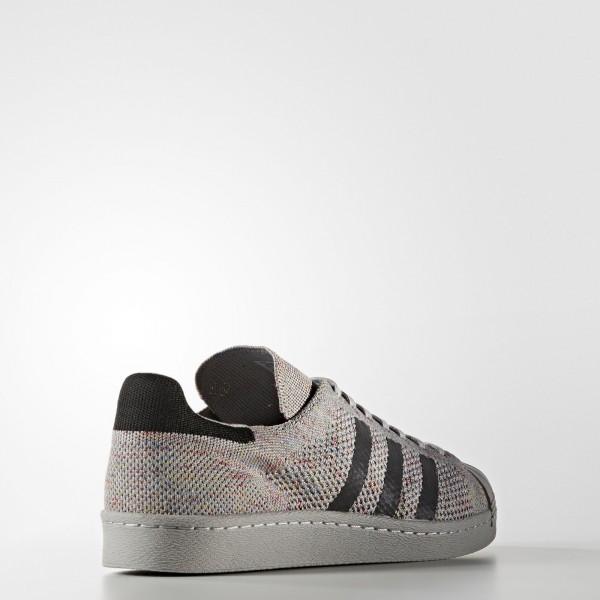 adidas Originals Superstar 80s Primeknit (S75843) - Mgh Solid gris/Mgh Solid gris/ blanc -Unisex