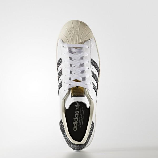 adidas Originals Superstar 80s (S75847) - blanc/Vapour vert/Off blanc -Unisex
