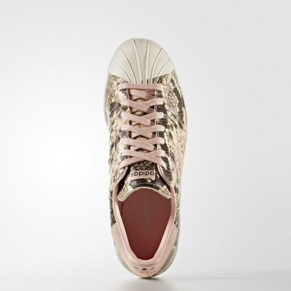 adidas Femme Originals Superstar 80s (S76419) - Vapour Rose/Vapour Rose/Off blanc
