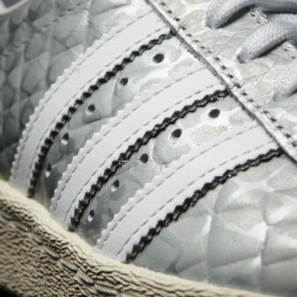 adidas Femme Originals Superstar 80s (S76415) - Matte argent/ blanc/ blanc