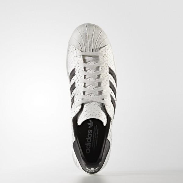 adidas Originals Superstar 80s (S75836) - Vintage blanc/Core Noir/Mineral Bleu -Unisex
