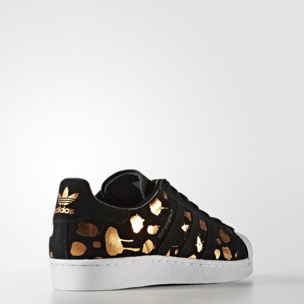 adidas Femme Originals Superstar (S76152) - Core Noir/Core Noir/Copper Met