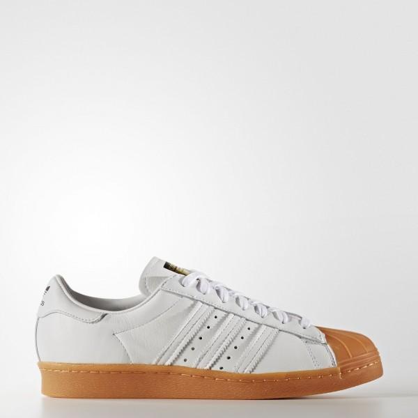 adidas Originals Superstar 80s DLX (S75830) - blanc/ blanc/or Met -Unisex