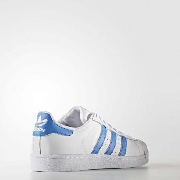 adidas Originals Superstar (S75929) - blanc/Ray Bleu/Ray Bleu -Unisex