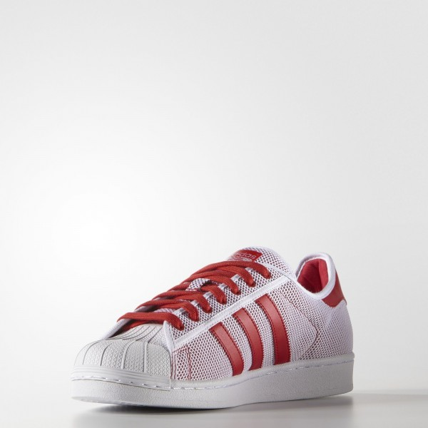 adidas Originals Superstar (S76502) - blanc/Collegiate rouge -Unisex