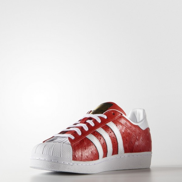 adidas Homme Originals Superstar Animal (S75158) - rouge/blanc/or Metallic