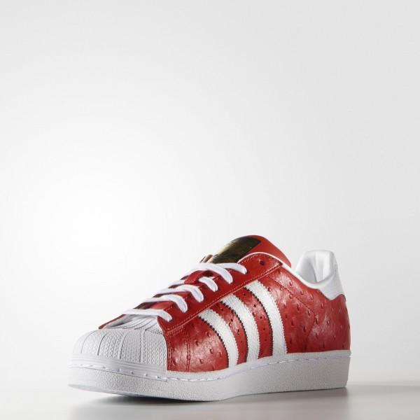 adidas Homme Originals Superstar Animal (S75158) - rouge/blanc/or Metallic