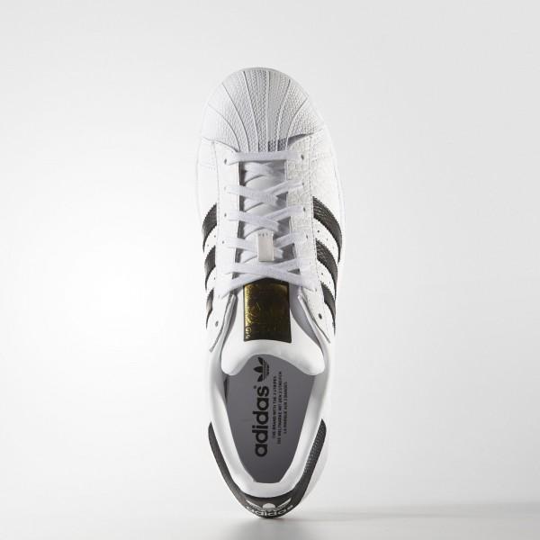 adidas Homme Originals Superstar Animal (S75157) - blanc/Core Noir/or Metallic
