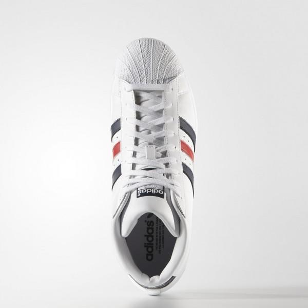 adidas Originals Pro Model (AQ5216) - blanc/Collegiate Navy/rouge -Unisex
