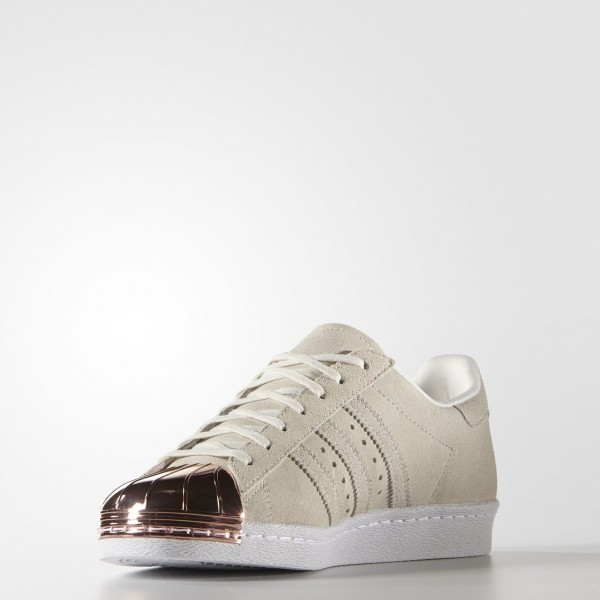 adidas Femme Originals Superstar 80s Metal-Toe (S75057) - Off blanc/Off blanc/Copper Metallic
