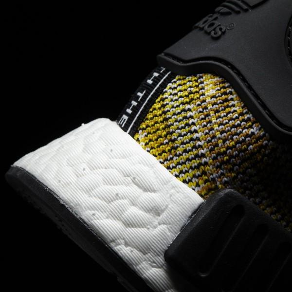 adidas Homme Originals NMD_R1 Primeknit (S42131) - Core Noir/St Nomad Jaune