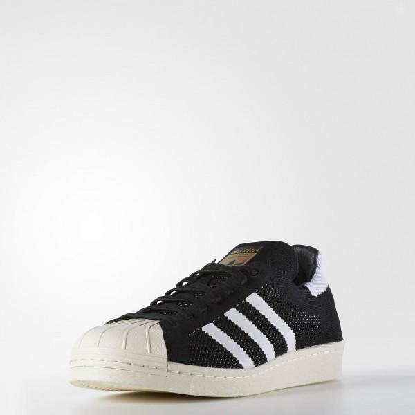 adidas Homme Originals Superstar 80s Primeknit (S82780) - Core Noir / blanc / or Met