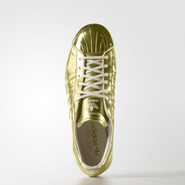 adidas Homme Originals SUPERSTAR 80s METALLIC PACK(S82742) - or Met. / or Met. / Off blanc