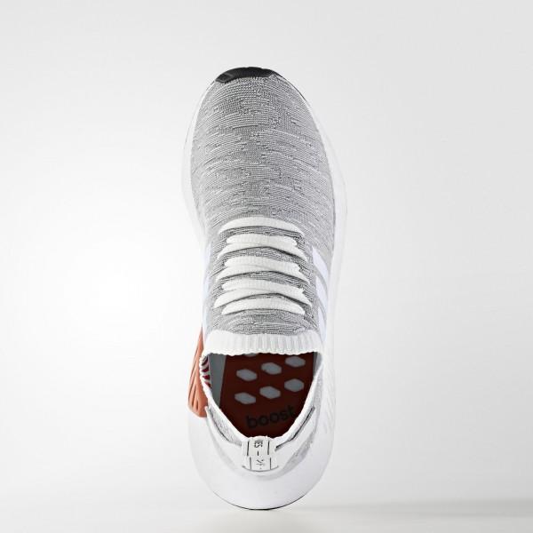 adidas Homme Originals NMD_R2 Primeknit (BY9410) - Footwear blanc/Core Noir