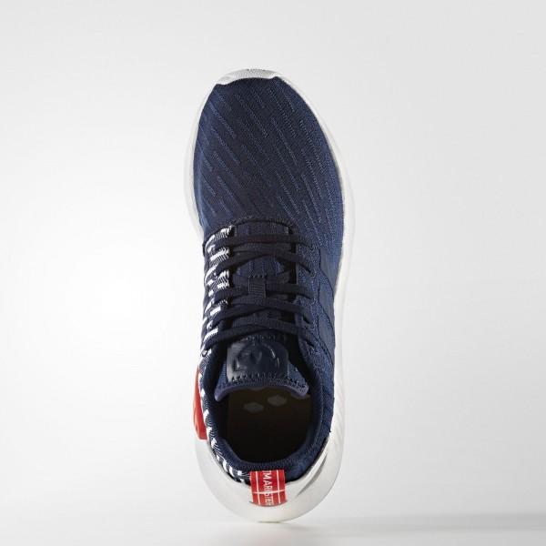 adidas Originals NMD_R2 Primeknit (BB2952) - Collegiate Navy/Footwear blanc -Unisex