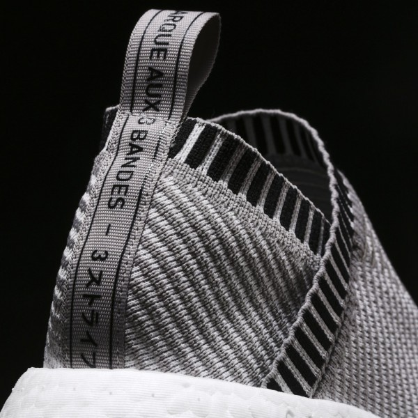 adidas Originals NMD_CS2 Primeknit (BA7187) - Dark gris Heather Solid gris/Footwear blanc/Shock Rose -Unisex