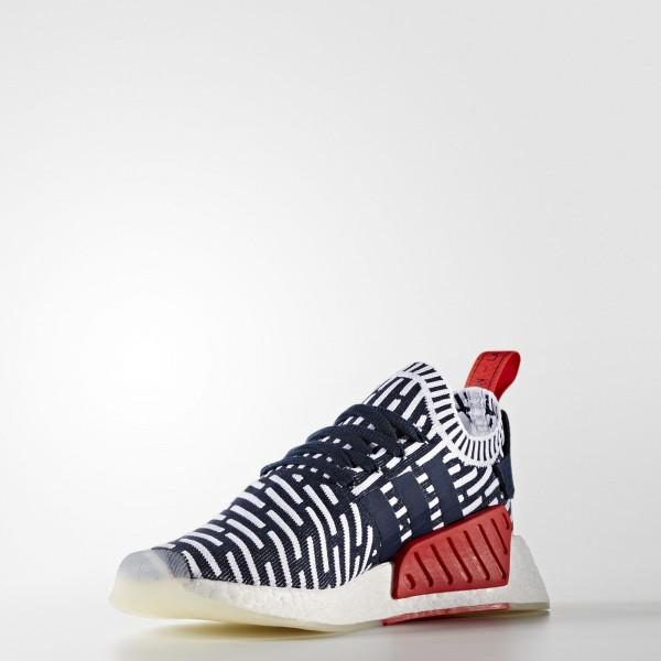 adidas Originals NMD_R2 Primeknit (BB2909) - Collegiate Navy/Collegiate vert/Footwear blanc -Unisex